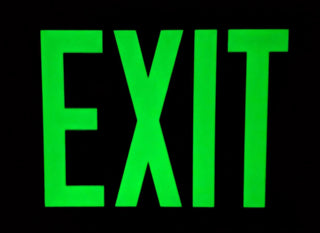 Wireless Non Electric Red Face Exit Sign Ul Listed 25
