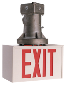 Hazardous Location 12 Volt or 24 Volt DC Exit Sign