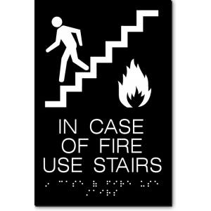 In Case Of Fire Use Stairs Sign Exit Sign Warehouse