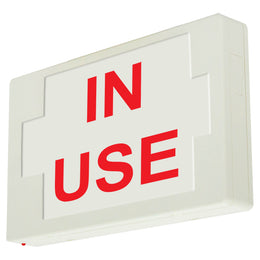 in use Sign.  LED Illuminated Exit Sign