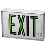 Direct-View Steel Exit Sign with Individual LEDs - USA