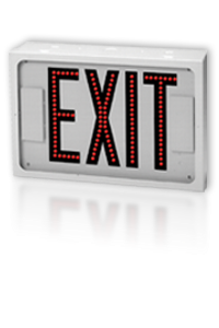 Direct-View Steel Exit Sign With Individual LEDs - 600E- USA