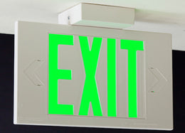 LEC Exit Sign Double Face AC Only - Made in USA