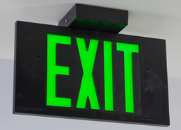 LEC Exit Sign Single Face Battery Backup - Made in USA