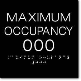 MAXIMUM OCCUPANCY ADA Sign