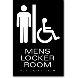MENS LOCKER ROOM ADA Sign
