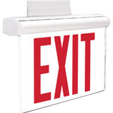 NYC approved pivoting edge lit exit signs - White housing