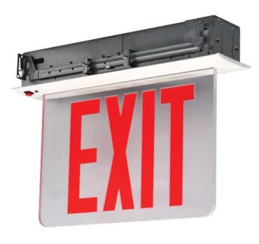New York Recessed Mount Led Edge Lit Exit Sign 8 Quot Letters Battery Exit Sign Warehouse