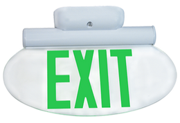 Modern Oval Edge Lit Exit Sign