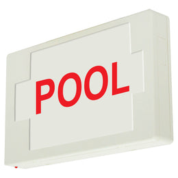 POOL SIGN - LED - UNIVERSAL MOUNT - BATTERY