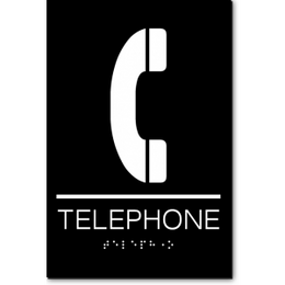 TELEPHONE ADA Sign
