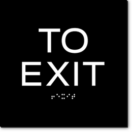 TO EXIT ADA Sign