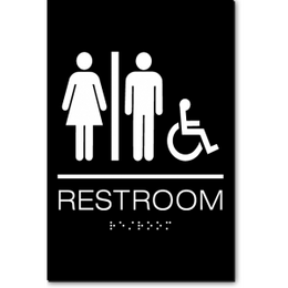 Unisex RESTROOM Accessible ADA Sign
