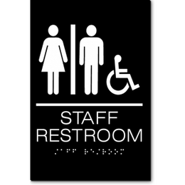 Unisex STAFF RESTROOM Accessible ADA Sign