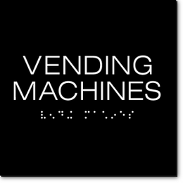 VENDING MACHINES Sign