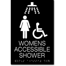 WOMENS ACCESSIBLE SHOWER ADA Sign