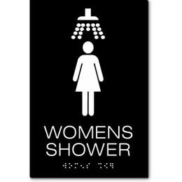 WOMENS SHOWER ADA Sign