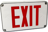 outdoor compliant exit sign - water resistant - single and double sided