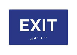 ADA Exit Sign Braille Exit Sign 6x6