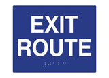 "ADA Braille Sign. To Read: EXIT ROUTE Size: 6""W X 6""H"