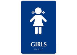 ADA Braille Girl Restroom Symbol