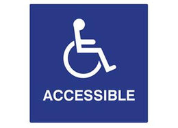 "ADA Braille Handicap Accessible Symbol To Read: ACCESSIBLE Size: 6"" W X 8"" H Color:"