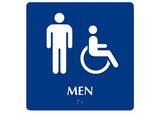 ADA Man Symbol w/ Handicap Symbol To Read: MEN Color: