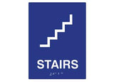 "ADA Braille Sign To Read: STAIRS Size: 6""W X 9""H"