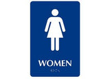 ADA Braille Woman Restroom Symbol