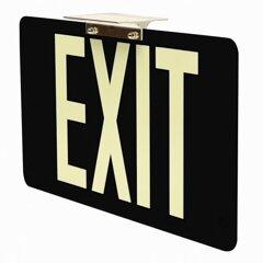 Wireless Black Exit Signs Non Electric -UL924 Code Approved