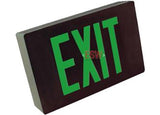 Cast Aluminum Exit Sign Green LED Black Housing With Battery Backup