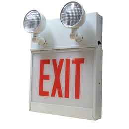Chicago emergeny exit sign with emergency lights - 120 Minute Battery