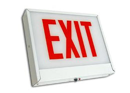 Chicago Approved LED Exit Sign Steel - Universal Mount - 120 Minute Battery