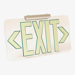 clear acrylic wireless non electric exit sign