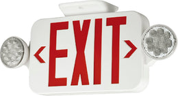 Compact Combination All LED Exit Sign RED With Emergency Lights