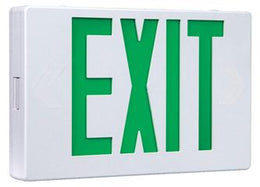 Exit Sign Two Circuit Operation - 2 inputs one for AC Power and a Generator Power