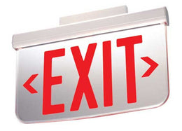 Dual-Lite LES Series Surface Mount AC Only Edge-Lit LED Exit Sign