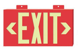 Photoluminescent Framed Exi Glow Series Exit Sign