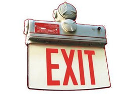 Explosion Proof LED Edgelit Exit Sign - Class 1 Div 2 - Made in USA
