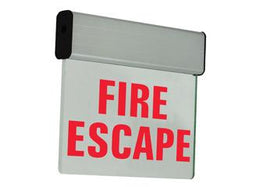 FIRE ESCAPE SIGN - LED - 120 Minute Battery - Surface Mount - Chicago Approved