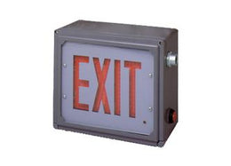 Hazardous Location Rated LED Exit Sign Class 1 Div 2 with Battery Back-up