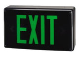 Vandal Resistant All Weather Exit Sign Green LED with Battery Backup