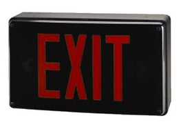 Vandal Resistant All Weather Exit Sign Red LED with Battery Backup