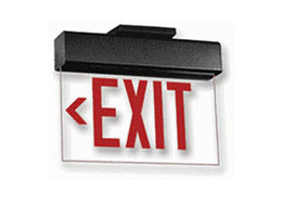 NYC Edge lit exit signs surface and recessed mount. Made in USA