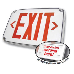custom text on outdoor exterior exit sign