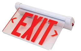 Rotating Panel Edge Lit Exit Sign