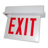 Recessed Mount Chicago Exit Signs - White Housing 120 Minute battery
