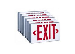 Thermoplastic LED Exit Sign With Battery Case Qty (6)