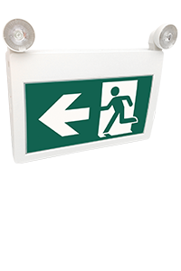 Running Man LED Exit Combo Sign With Adjustable Lamp Heads