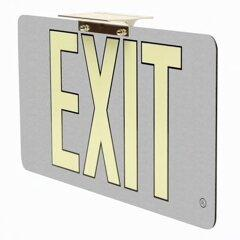 Aluminum Wireless Battery Operated Exit Signs Non Electric Gray